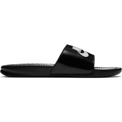 "Men's Nike Benassi ""Just Do It."" Sandal BLACK-WHITE"