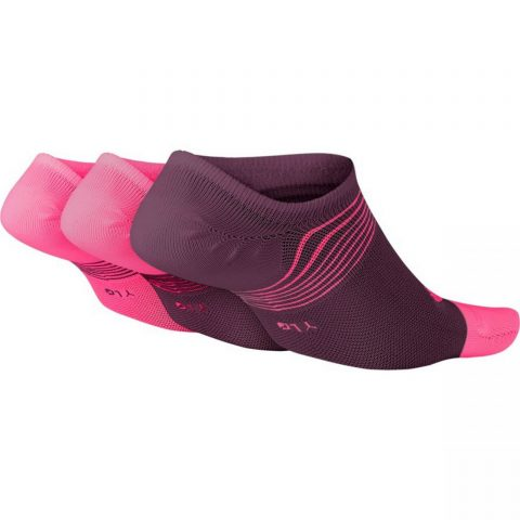 Girls' Training No-Show Socks (3 Pairs)
