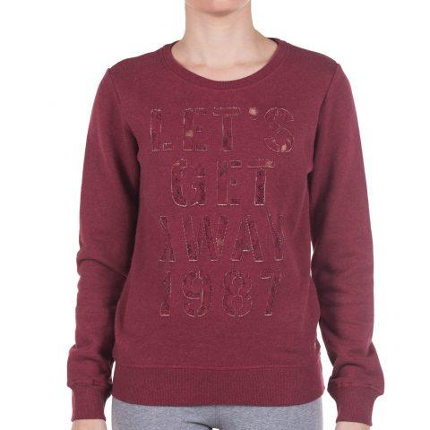 Funky Buddha Ladies Sweatshirt (Brick)