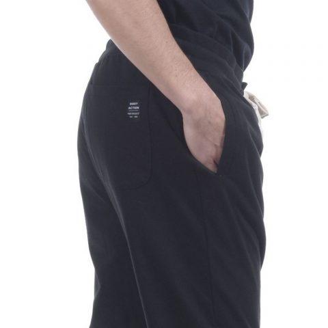 Body Action Men Sport Fleece Joggers (Black)