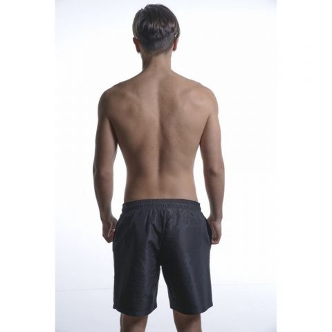 Body Action Men Mid-Length Swim Shorts (Black)