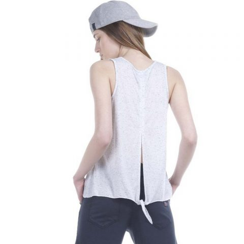 Body Action Women Knot Back Tank Top (White)