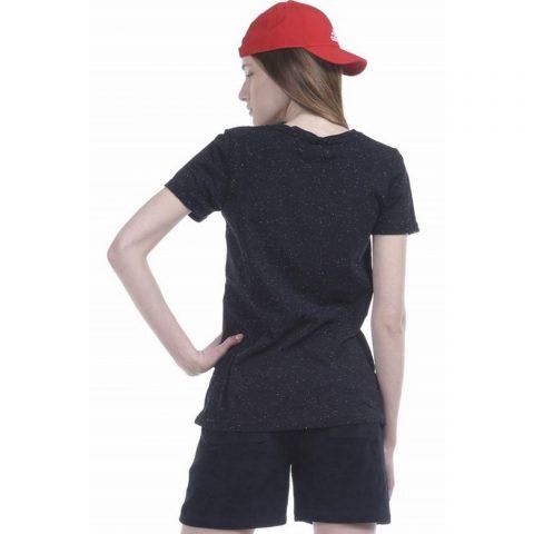 Body Action Women Mesh Long Line T-Shirt (Black)