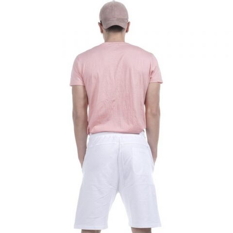 Body Action Men Perforated Logo T-Shirt  (L.Pink)
