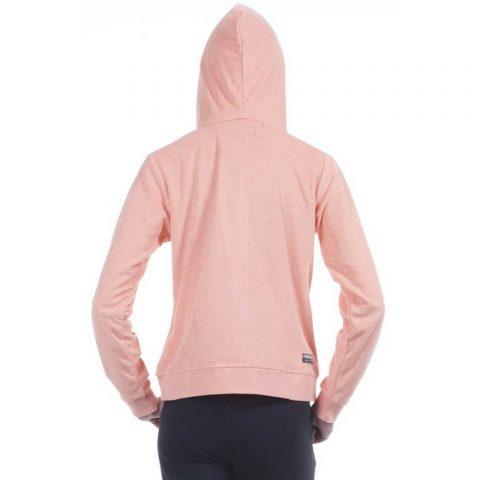 Body Action Women Towel Hoodie Jacket (Coral)