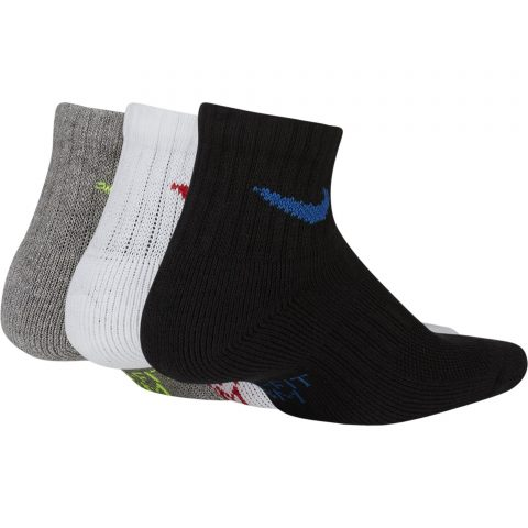 Kids' Nike Performance Cushioned Quarter Training Socks (3 Pair)