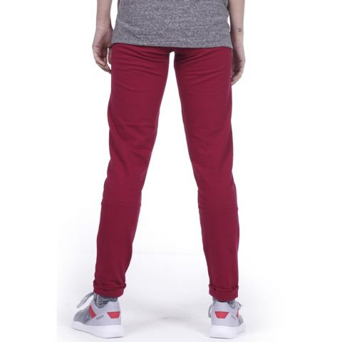 BODY ACTION WOMEN SKINNY JOGGERS - MAROON
