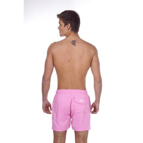 BODY ACTION MEN MID-LENGTH SWIM SHORTS - PINK