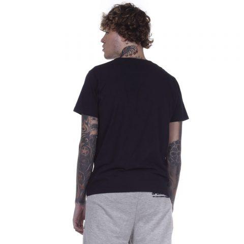 BODY ACTION MEN CREW NECK T-SHIRT - BLACK
