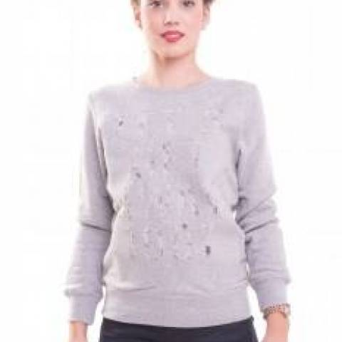 Funky Buddha Ladies Sweatshirt (Grey Melange)