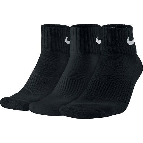 Unisex Nike Performance Cushion Quarter Training Sock (3 Pair)