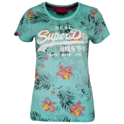 Superdry Vintage Logo Hibiscus Overdyed