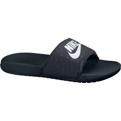 """Women's Nike Benassi """"Just Do It."""" Sandal BLACK/WHITE"""