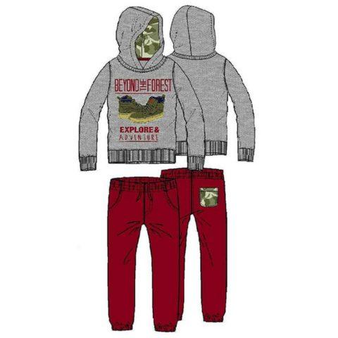 """ENERGIERS Φόρμα Παντελόνι Και Μπλούζα Με Κουκούλα Και Τύπωμα """"Explore & Adventure"""""""