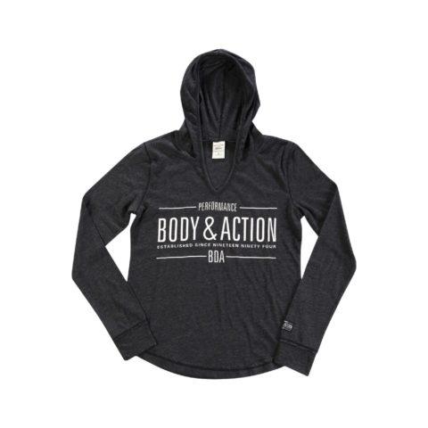 Body Action Women V Neckline Hoodie