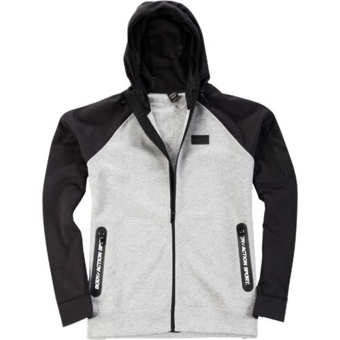 Body Action Men Raglan Tech Zip Hoodie