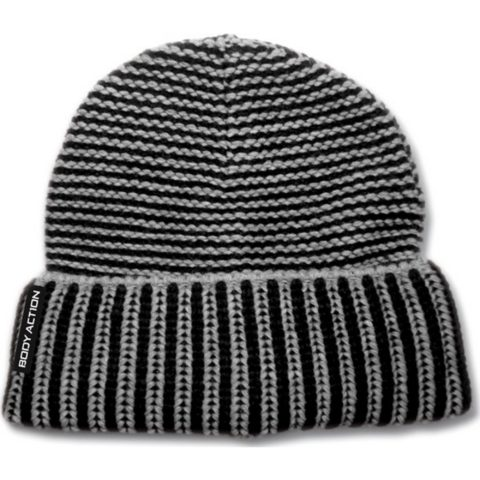 Body Action Ribbed Knit Beanie Hat