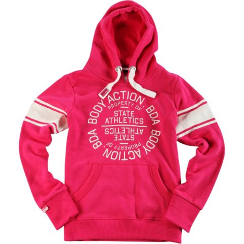 Body Action Women Active Hoodie L.FUCHSIA