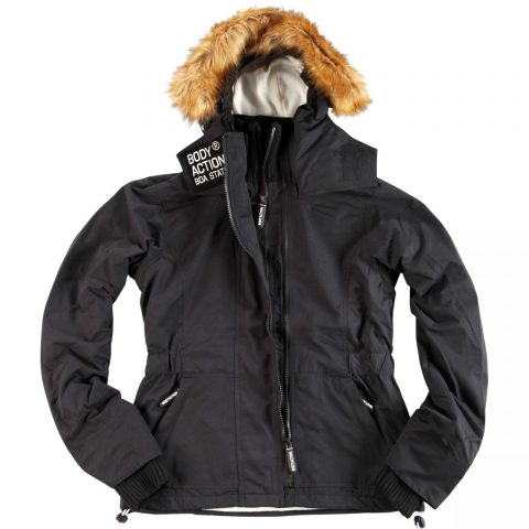 Body Action Women Fur Hooded Winter Jacket