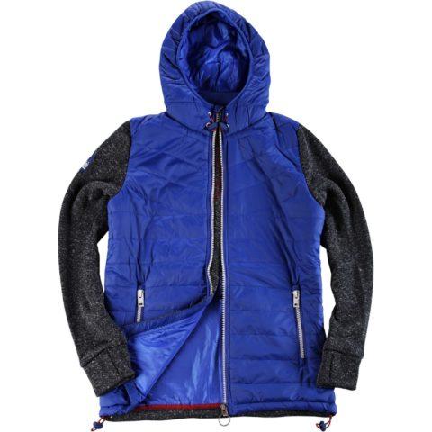 Body Action Men Polar Fleece Zip Hoodie BLUE