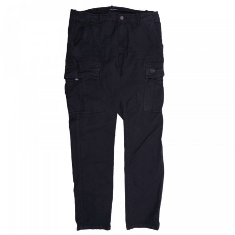 Funky Buddha Men Woven Pants Cargo (Black)