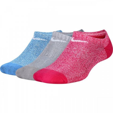 Kids' Nike Performance Cushioned No-Show Training Socks (3 Pair)