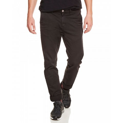 Funky Buddha Mens Chino Pants (Jet Black)