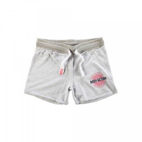 Body Action Women Regular Fit Shorts (Grey Mel)