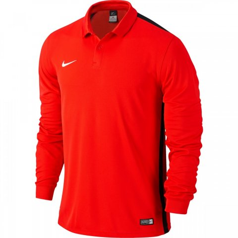 Nike Dri Fit Polo Long Sleeve Red