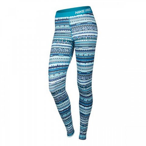 Nike Womens Training Leggings Blue
