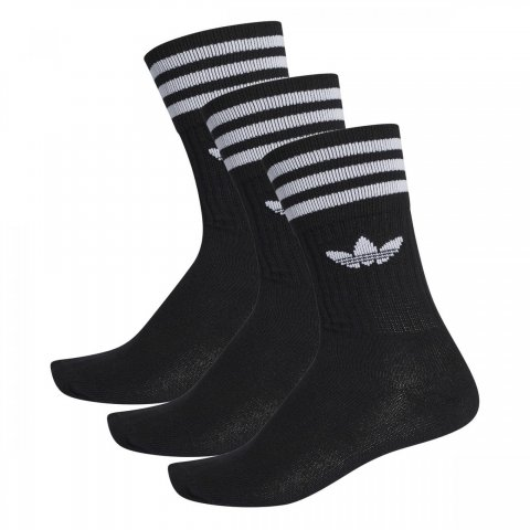 Adidas SOLID CREW SOCK 3 PACK BLACK/WHITE