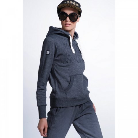 Body Action Women Active Hoodie (Black)