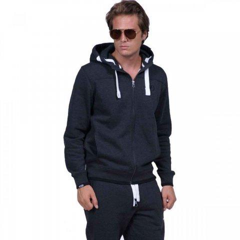 Body Action Men Full-Zip Sweatshirt (black)