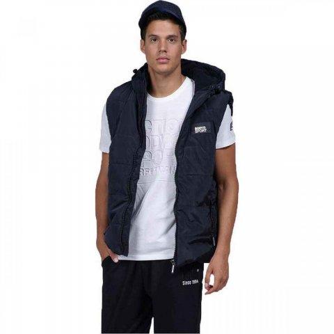 Body Action Men Zip Through Quilted Vest (black)