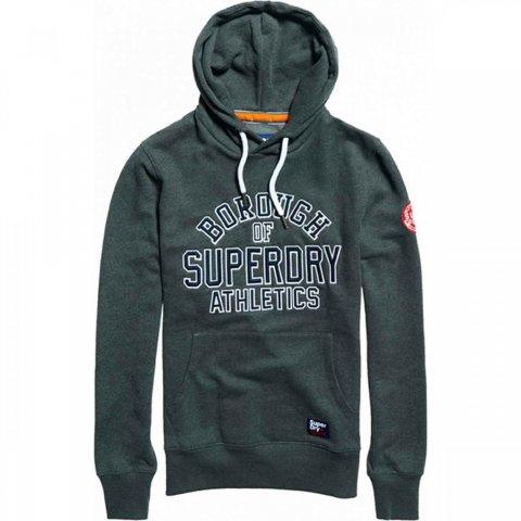 Superdry Academy Sport Applique Hood (dark smoke marl)