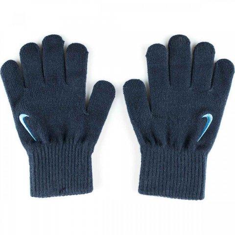 Nike YA Swoosh Knit Gloves μπλε