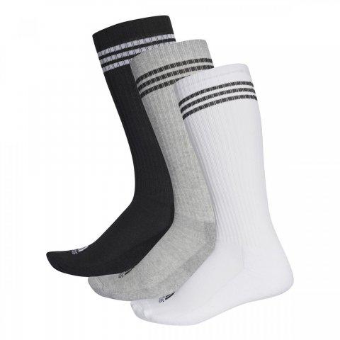 Adidas 3 Stripes Knee Half Cushioned 3 pairs-pack