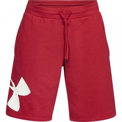 Mens Under Armour Rival Fleece Logo Short Red