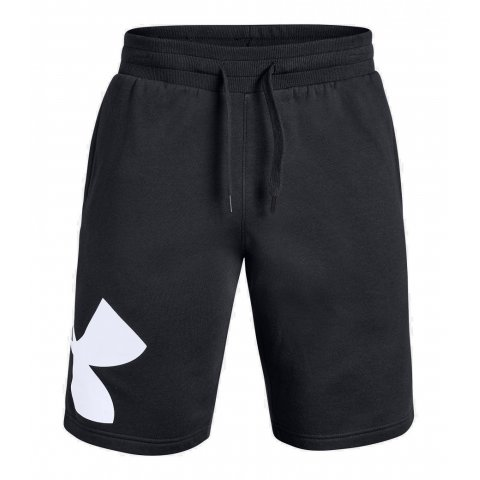 Mens Under Armour Rival Fleece Logo Shorts Black