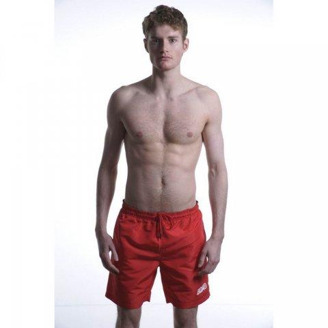 Body Action Men Mid-Leng Swim Shorts (Red)