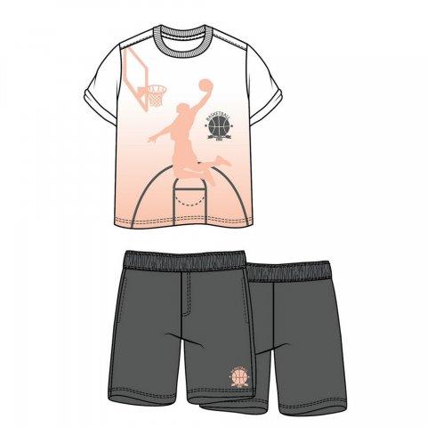 Energiers Σετ Αγόρι μπλούζα τύπωμα (Άσπρο-Ανθρακί)