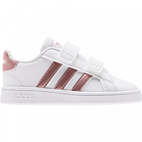 ADIDAS GRAND COURT I FTWWHT/COPPMT/GLOPNK