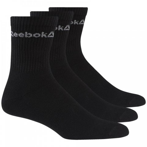 REEBOK ACT CORE CREW SOCK BLACK/BLACK/BLACK