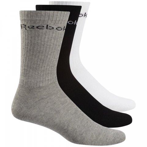 REEBOK ACT CORE CREW SOCK WHITE/BLACK/MGREYH