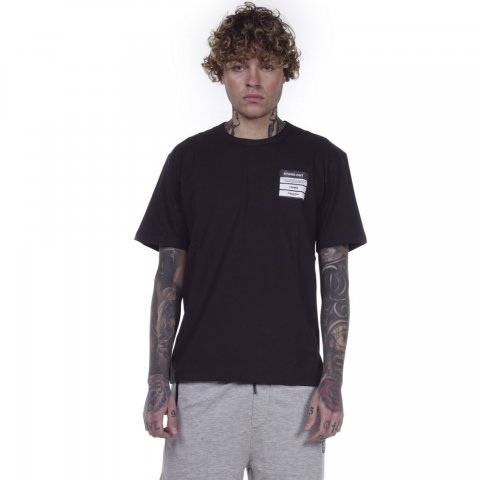 BODY ACTION MEN CREW NECK T-SHIRT - BLACK