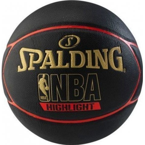 SPALDING HIGHLIGHT RUBBER BASKETBALL