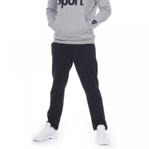 BODY ACTION MEN STRAIGHT-LEG SWEATPANTS - BLACK