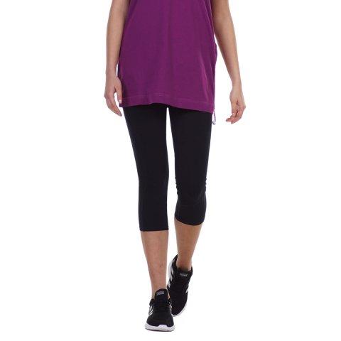 BODY ACTION WOMEN'S 3/4 SPORTS LEGGINGS BLACK