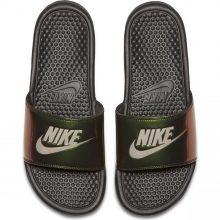 """Nike Women's Nike Benassi """"Just Do It."""" Sandal BLACK/COBBLESTONE"""