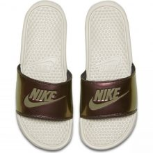 "Nike Women's Nike Benassi ""Just Do It."" Sandal LIGHT BONE/MEDIUM OLIVE"